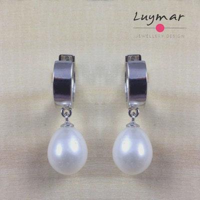 A27093 Pendientes plata perlas Luymar