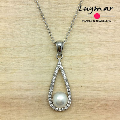 CB002  colgante plata perlas   Luymar
