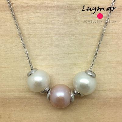C-19 #19# Collar perlas cadena  Luymar