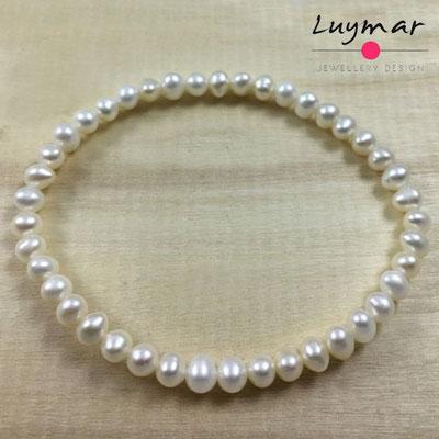 PUL-4 pulsera perlas cultivadas Luymar