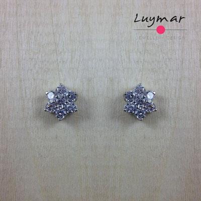 AD2323  Pendientes plata circonitas Luymar