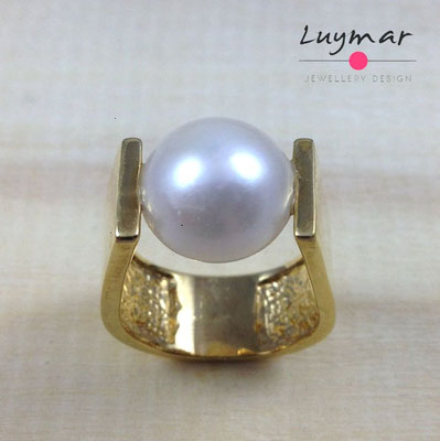 S19864  Sortija plata perlas Luymar