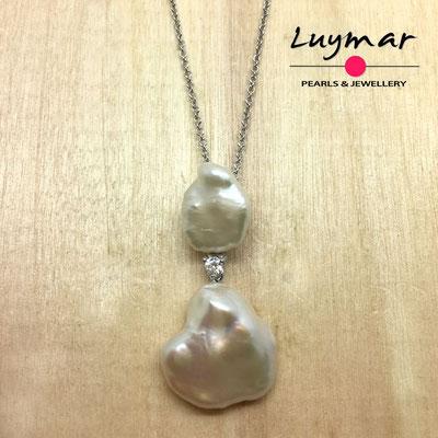 C35147 Colgante con perlas cultivadas keshi Luymar