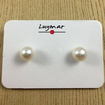 PP-37 Pendientes perla redonda Luymar