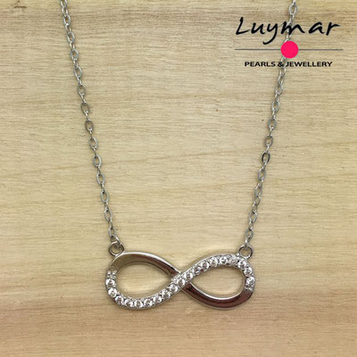 CB2669   gargantilla plata infinito   Luymar