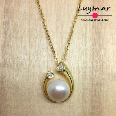 C35114  Colgante plata perlas Luymar