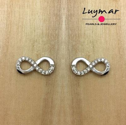 ABX276   pendientes plata infinito   Luymar