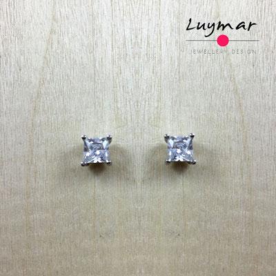 AD3016  Pendientes plata circonitas Luymar