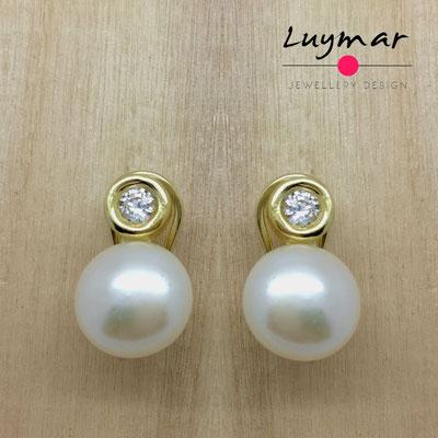 A35056 Pendientes plata perlas Luymar