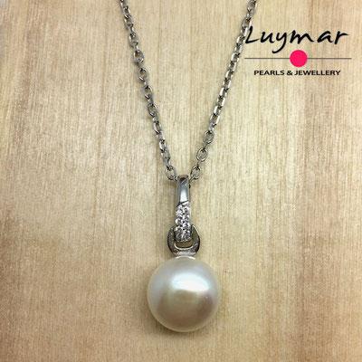 C35112   Colgante plata perlas Luymar