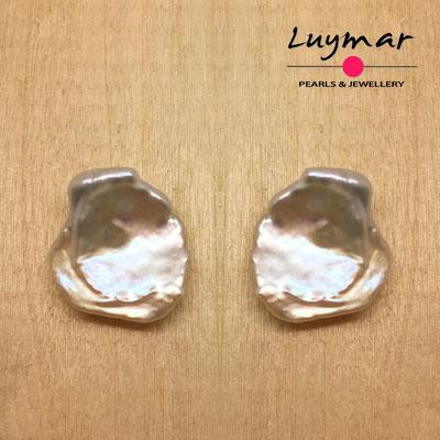 PP-20 Pendientes con perlas cultivadas keshi Luymar