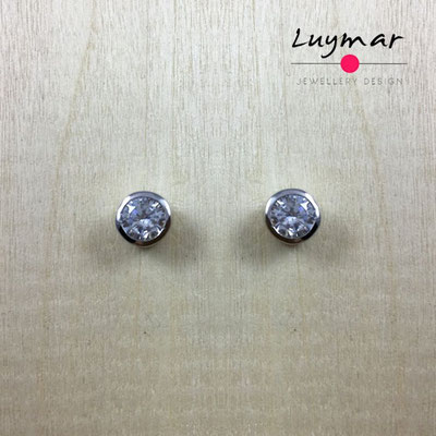 AD2675  Pendientes plata circonitas Luymar