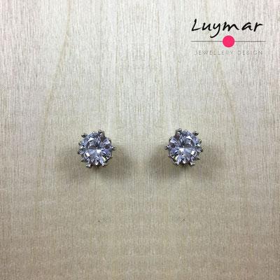 AD3069  Pendientes plata circonitas Luymar