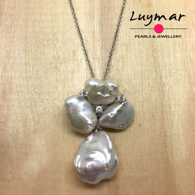 C35145 Colgante con perlas cultivadas keshi Luymar