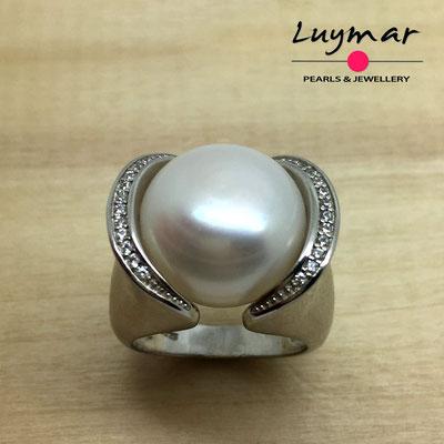 S24128Z   Sortija plata perlas   Luymar