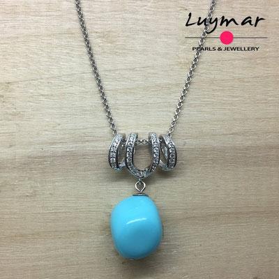 COL-15 Colgante plata y turquesa Luymar