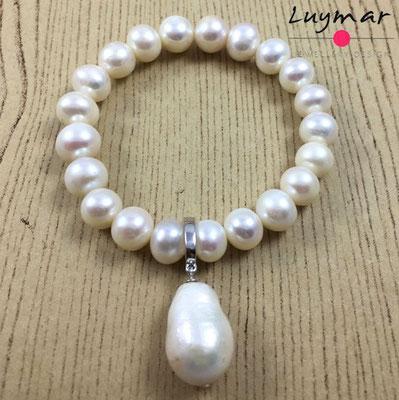 PUL-7+C-12 pulsera perlas cultivadas Luymar