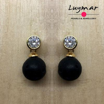 PP-11  Pendientes plata perlas presión  Luymar