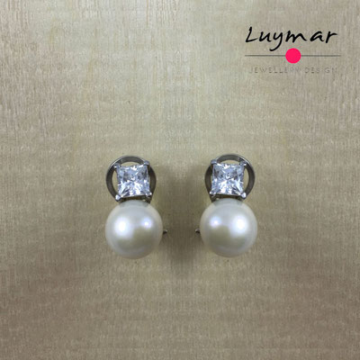A32113 Pendientes pequeños plata omega Luymar