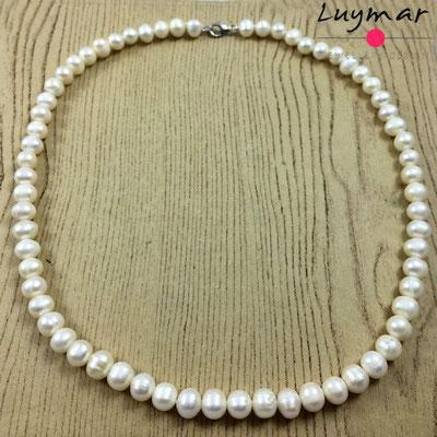 C-14-55CM collar perlas luymar