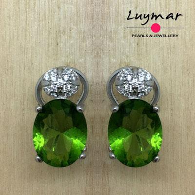 AB032Pendientes plata omega  Luymar