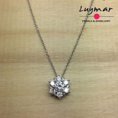 C35172  Gargantilla plata circonitas 5A Luymar