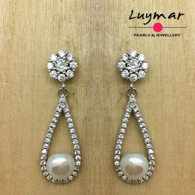 AB026   Pendientes plata Luymar
