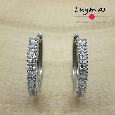 XXXEHB05 Pendientes plata circonitas  Luymar