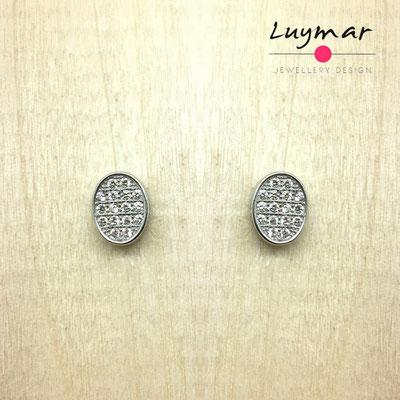 YHCESA05 Pendientes plata circonitas Luymar