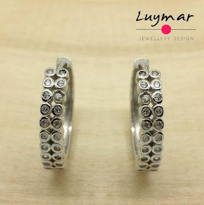 XXXEHB13 Pendientes plata circonitas Luymar