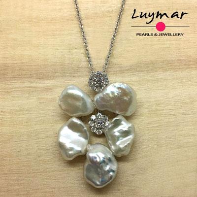 C35160 Colgante con perlas cultivadas keshi Luymar