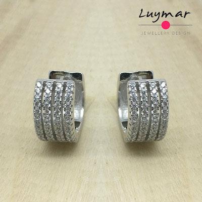 JNEHA48  Pendientes plata circonitas Luymar