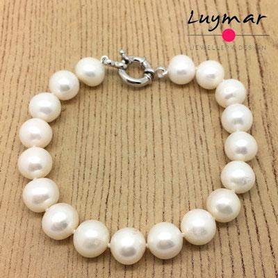 PUL-12 pulsera perlas cultivadas Luymar