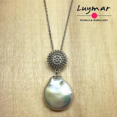 C35134  colgante plata perlas   Luymar