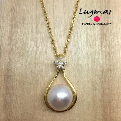C35116   Colgante plata perlas Luymar