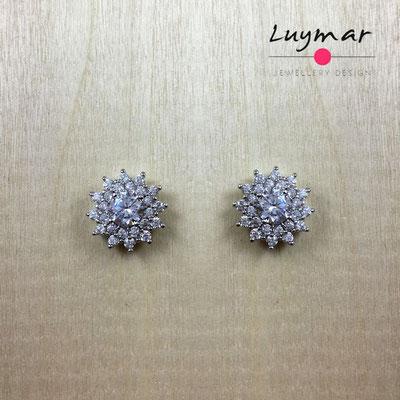 AD2750  Pendientes plata circonitas Luymar