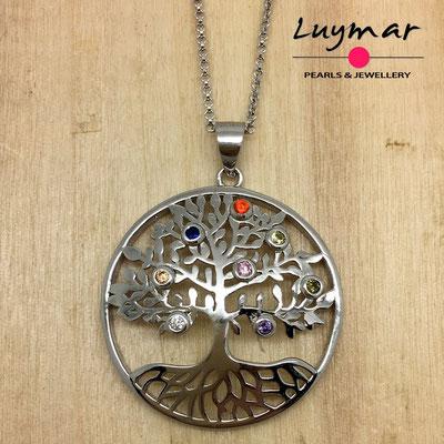 CB003  colgante plata Luymar