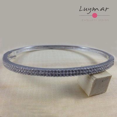 PE458 pulsera plata Luymar con circonitas