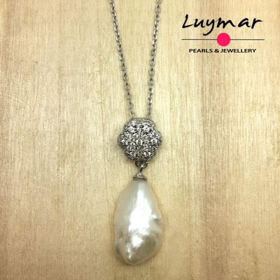 C35127 Colgante con perlas cultivadas keshi Luymar