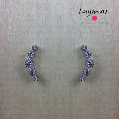 AD3538  Pendientes plata circonitas Luymar