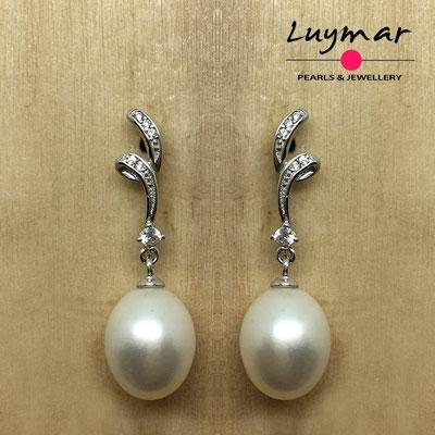 A35122  Pendientes plata Luymar
