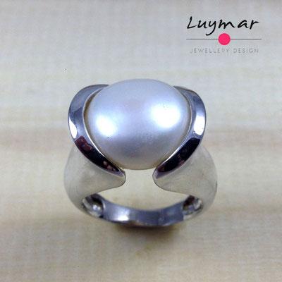 S24128 Sortija plata perlas Luymar