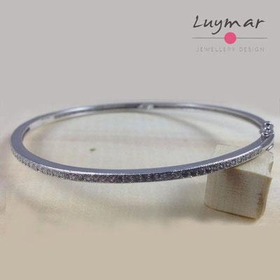 PE391 pulsera plata Luymar con circonitas