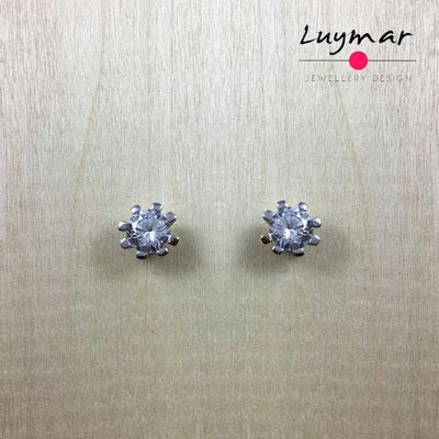 AD2734  Pendientes plata circonitas Luymar