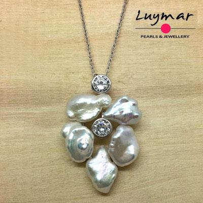 C35156 Colgante con perlas cultivadas keshi Luymar