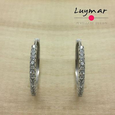 JNEHA18  Pendientes plata circonitas Luymar