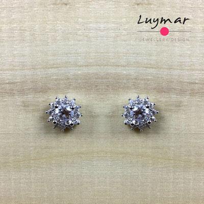 AD2672  Pendientes plata circonitas Luymar