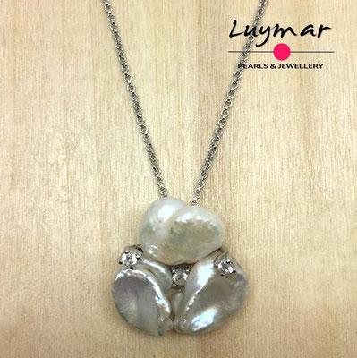 C35146 Colgante con perlas cultivadas keshi Luymar