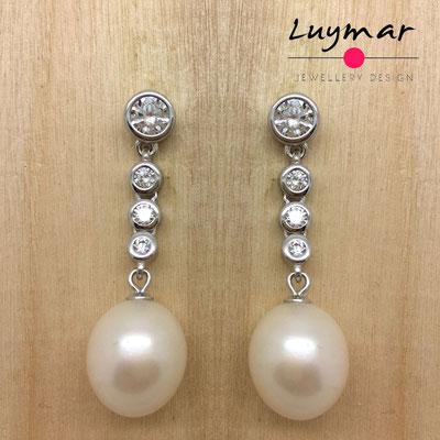A35053 Pendientes plata perlas Luymar