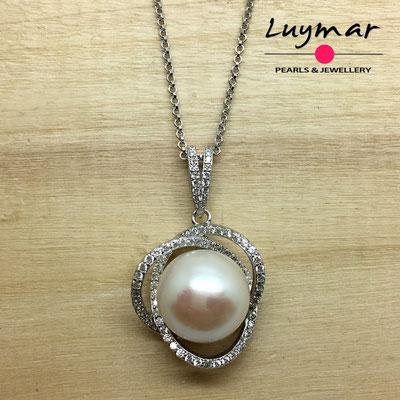 C35223 colgante plata y perlas cultivadas Luymar